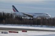 Morten 5 februar 2020 - F-GRXL som er et Airbus A319-111 som Air France flyr tar av