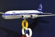 Morten 6 februar 2020 - Store fly på Retromobile i Paris. En flygende historie, SX-DAP - Douglas DC-6 B med Olympic Airways i 1971 - Athen