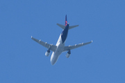 Morten 9 august 2020 - OO-SSV over Høyenhall, det er et Airbus A319-111 fra Brussels Airlines