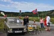 Lørdag - Et norsk flagg hadde senior med seg og det fikk vi bruk for