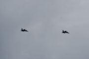 Lørdag - Så flyr det 2 jagerfly over oss, jeg rakk å ta bilde
