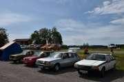 Lørdag - Fra vestre en Renault 12, så en Renault 5 GTE (1989), neste en Renault 18 (1981) og til slutt en Renault Fuego (1981)