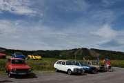 Lørdag - Siste på rekken, fra venstre Renault 12 TN (1975), neste Renault 16 (1975), Renault 20 TS (1978) og til slutt Renault 6 TL (1975). Det ble til sammen 10 biler på denne rekken