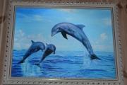 Delfin bilde i ramme tre dimensjonalt