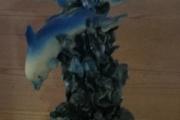 Delfin i elfenben, mål høyde 13 cm