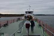 Da er vi på vei ut til båten, dette blir Kevins første båttur til Hovedøya