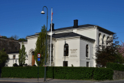 Vi går litt videre og kommer til Selskapslokaler Oslo Militære Samfund som ligger i Myntgata