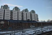 Majorstuen, her ser vi litt av den gamle stallen og de nye høyblokkene i bakgrunnen