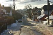 Her snur jeg meg rundt og tar et bilde av Morells vei som jeg har gått opp