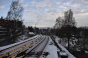 Nå står vi på Høyenhall T-banestasjon og ser i retning Brynseng