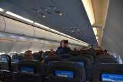 SAS flyet med avgang kl. 11.10 og Vidar gjør seg litt kjent på flyet
