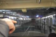 Tilbake for å hente bagasjen på hotellet oppdager vi at banen på Metroen er førerløs