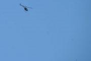 Morten 15 juli 2021 - Helikopter over Høyenhall, men da for vi med noen Låvesvaler istedenfor, nede til høyre