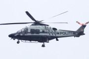 Knut 8 april 2020 - LN-ORB over Maridalen, dette er Politiets andre nye helikopter. Så fint at han har våknet litt etter Østensjøturen :-)