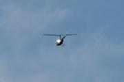 Morten 17 oktober 2020 - Ukjent helikopter over Høyenhall, og når jeg skal zoome den inn for jeg solen rett i fleisen