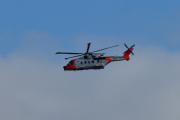 Morten 2 september 2020 - Redningshelikopter over Høyenhall, det er Leonardo AW101 0270 - Nor05 som kommer tilbake