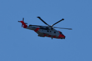 Morten 24 august 2020 - Redningshelikopter over Høyenhall, tar jeg ikke feil så er det nå på Kjeller flyplass for testflyvning og skal videre opp til Sola etterpå