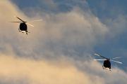 Morten 24 desember 2020 - To militær helikoptre over Høyenhall på juleaften. Er det Bell 412 så er de fra rundt 1980 tallet