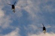 Morten 24 desember 2020 - To militær helikoptre over Høyenhall på juleaften.  Bell 412 har to turbinmotorer på til sammen 1800 hestekrefter
