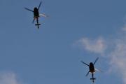 Morten 24 desember 2020 - To militær helikoptre over Høyenhall på juleaften, og topphastigheten er på ca. 260 km/t
