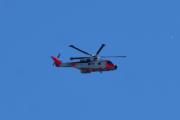 Morten 25 august 2020 - Redningshelikopter over Høyenhall, en ny testtur på Leonardo AW101 0276 - ZZ107