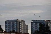 Morten 27 august 2020 - Tøffe Helikoptre over Manglerud, kanskje de er tre?