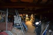 Nå er vi på loftet, ser ikke ut som om det blir mindre deler her
