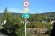 Her ser vi høvdingen på riksvei 4, var 80 km før i gamle dager