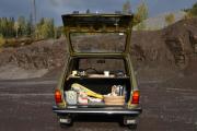 Renault 6 er en selvskreven bil å ha lunsj i, mangler bare kaffetrakteren. Men vi har med termos da