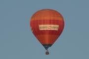 Morten 24 mai 2018 - Luftballong over Høyenhall, det står sopra steria på den