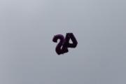 Morten 12 juni 2021 - Heliumballong over Høyenhall, kanskje det er 2A og så løsnet den nederst ved A?