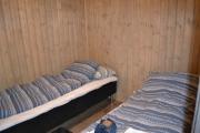 Vi må jo vise hytta våres som holdt mål innvendig, dette er et av to soverom