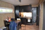 Stue og kjøkken i ett, fungerte utmerket