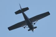 Morten 11 august 2021 - Cessna besøker hytta i Sandefjord, han hadde ikke vanlig registreringsnummer, det begynte på N1