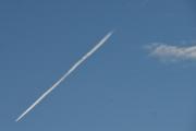 Morten 11 oktober 2020 - Jetfly over Høyenhall, sånn som været er nå er det lenge mellom hvert jetfly som jeg kan se