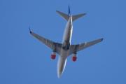 Morten 18 oktober 2020 - LN-TUK over Høyenhall, det er jo samme flyet som i går. En Boeing 737-705 som SAS eier