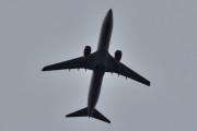 Morten 26 august 2020 - LN-RRF over Høyenhall, det er et Boeing 737-85P som SAS eier