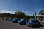 Fredag - Noen av disse blå bilene skal kjøre rally i morgen