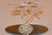 Delfin glass skulptur