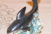 Delfin grå, høyde 9 cm