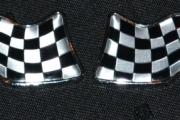 Metal Flag Badge Emblem Decal Sticker For Renault