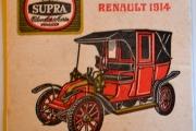 Old Belgian Beer Coaster ~ STELLA ARTOIS Brewery SUPRA Pils ~ Renault 1914 Car