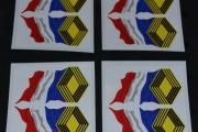 RENAULT ALPINE GORDINI Wavy Tricola 75mm car stickers