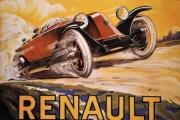 RENAULT MOTORCAR VINTAGE METAL WALL SIGN