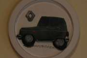 Renault 6 som var kakepynt, nå et bilde