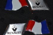 Renault Flag Shape Emblem Badge Palio Fluence Side Emblem
